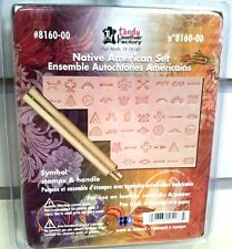 NATIVE AMERICAN SYMBOL STAMP SET 8160-00 Tandy Leather Craftool Stamping Tools