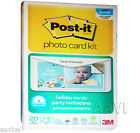 "Post-it Photo Holiday Card Kit 4 X 8"" Semi Gloss Sticky Picture Paper & Software"