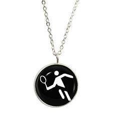 Tennis Olympic Sign Pendant & Necklace Gift Boxed wimbledon grand slam Symbol