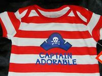 CAPTAIN ADORABLE Pirate NEW Infant Clothes Newborn Baby One Piece Boy 0 3 6 9 Mo