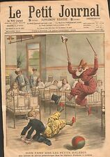Clowns Hospital London Hôpital de Londres small Sick Kid UK 1908 ILLUSTRATION