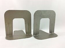 One Pair Vintage Industrial Office Library School Metal Bookends Book Ends