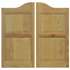 "COMMERCIAL SOLID ASH WOODEN CAFE SALOON SWINGING DOORS ANY 24""-36"" w/Hardware"