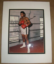 MUHAMMAD ALI Signed Boxing Photo Matted to Fit 11x14 Frame  w/COA