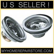? LEAKING BASKETS ? YOU GET 2 ! STAINLESS STEEL KITCHEN SINK STRAINER DRAIN KITS