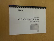 NIKON COOLPIX L810 FULL USER MANUAL GUIDE INSTRUCTIONS PRINTED 136 PAGES A5