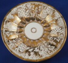 Antique Moabit Berlin Porcelain Gold Design Saucer Porzellan Untertasse German