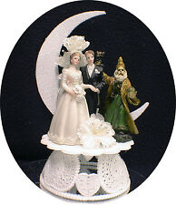 Magic Wizard Mystical Harry potter style Wedding Cake Topper Top Moonlight