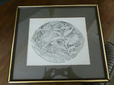 Pen and Ink Print - Hidden Fawn - Vicki Lancaster - signed/numbered - 3/100