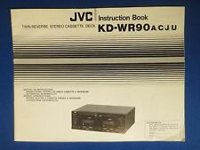 JVC KD-WR90 A C J U OWNER INSTRUCTION MANUAL ORIGINAL FACTORY ISSUE REAL THING