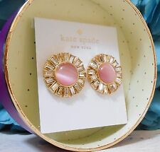 NWT Kate Spade Crystal Circles Sunburst Studs Earrings Gold Plated Gift Box NEW