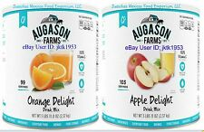 Augason Farms Survival Food ORANGE & APPLE  Drink Mix- TWO PACK BIG #10 CANS