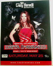 DRITA D'AVANZO SIGNED 8 1/2 X 11 PROMO MOB WIVES AUTOGRAPHED PSA JSA GUARANTEED!