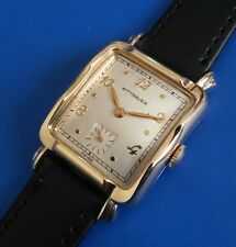 Exquisite Vintage 1960s Mans *WITTNAUER* Hand Wind, Silver Tone Dial, SERVICED!