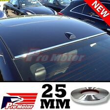 25mm Chrome Molding Trim Exterior Guard Lower Window Side Door Strip Roof 09 A4