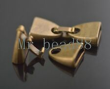 Lots 20pcs Bronze For Jewelry Cord End Cap Stopper Beads Fit 9.5x2.5mm Charms