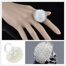 RF SILVER Dandelion Flower Ring