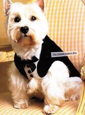 TUXEDO DOG COAT - 3 sizes  / 8ply or D.K. - COPY dog coat knitting pattern