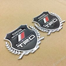2pcs Metal TRD Sport Car Emblem Badge Decal Sticker Fit for Toyota Corolla Camry