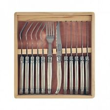 12PCE LAGUIOLE JULIEN D'URBAN - MOTHER OF PEARL-  CUTLERY FORKS/STEAK KNIFE SET