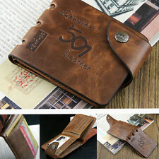 Men Genuine Leather Bifold Wallet Card Money Case Holder Slim Purse Pocket Gift