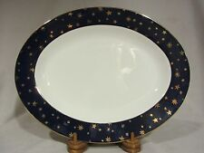 """Sakura """"Galaxy"""" Blue Large 14"""" Oval Serving Tray/Platter - EXCELLENT"""