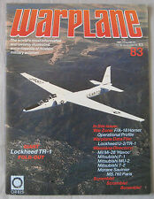 Warplane magazine Issue 83 Lockheed U-2 & TR-1 cutaway drawing & poster