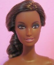 NEW Gorgeous Barbie Doll, LARA Mold, Black Hispanic Brunette, Nude for OOAK RARE