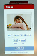 Canon Selphy CP Color Ink / Papier Set KP-108IN CP800 CP900 CP500 CP1200 CP1000