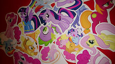 50 MINI MY LITTLE PONY VINYL STICKERS PARTY BAG FILLERS