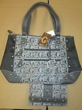 Designer  (G)  Purse and Wallet set   NEW w/ TAGS  (grey)  FREE SHIPPING  G9