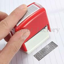 Security Rubber Hide ID Garbled Stamp For Protect Office Document Identity Theft