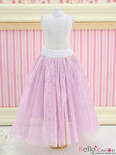 ☆╮Cool Cat╭☆196.【PS-05】Blythe Pullip Long Tulle Ball Skirt (Dot) # Purple