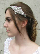 Vintage 1920s Argenté À Strass Coiffe Great Gatsby Charleston Nuptial Bandeau