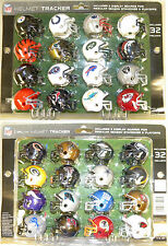 NFL Riddell Standings Tracker Set Of 32 Pocket Sized Helmets & Display Boards