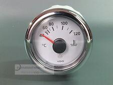 VDO MARINE KÜHLWASSER TEMPERATUR 120°  WATER  INSTRUMENT GAUGE  mit Chromring