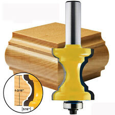 1/2'' Shank Bullnose with Bead Column Face Molding Router Bit For Woodworking