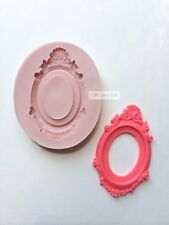 Vintage Frame Cameo Classic Oval Silicone Poured Mold mould Fondant clay Resin