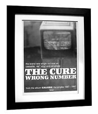 THE CURE+Wrong Number+POSTER+AD+RARE ORIG 1997+QUALITY FRAMED+FAST GLOBAL SHIP