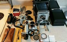 Vintage graflex crown graphic special camera with lots of extras