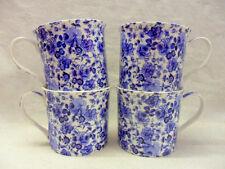 Set of 4 blue rose chintz china palace mugs