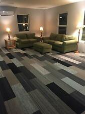 High Quality Carpet Tile Planks Modular Assorted Gray Black Silver 600 sq ft