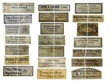 V120 Old Vintage Antique Violin Fiddle Maker Set of 21 Labels NICE!