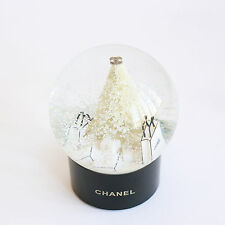 Chanel Medium Snow Globe with Christmas Tree  and Shopping Bag