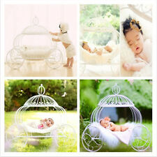 Iron Art Creative Photography Prop White Pumpkin Carriage for Newborn Baby D-061