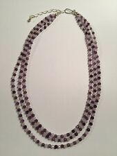 HSN Jay King -DRT Sterling Silver Rose Quartz Amethyst Gemstone Necklace