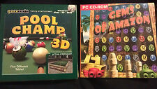 New GameSoft Pool Champ 3D PC Game Windows VISTA/XP/98SE  + Gems of Amzon Game