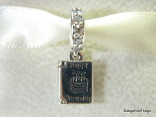 AUTHENTIC PANDORA CHARM  BIRTHDAY WISHES #791723CZ HINGED BOX INCLUDED