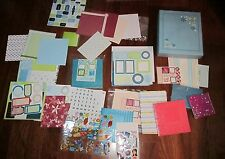 Mixed lot of Scrap Book Items Albums, Paper, Stickers & More