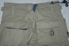 NWT 55 DSL DIESEL PANZER ZWEIT PANT TROUSERS CARGO COMBAT BEIGE SIDE POCKET 31